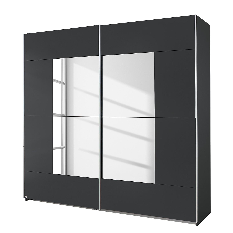 goedkoop Schuifdeurkast Crato Metallic grijs 261cm 2 deurs Rauch Packs