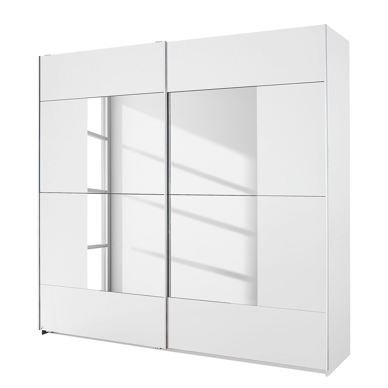 goedkoop Schuifdeurkast Crato Alpinewit spiegelglas 261cm 2 deurs Rauch Packs