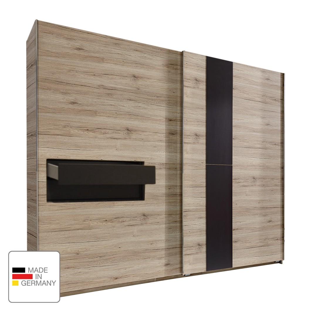 goedkoop Schuifdeurkast Diva San Remo eikenhouten look 300cm 2 deurs 2 lades Zonder Passe partout lijst fresh to go