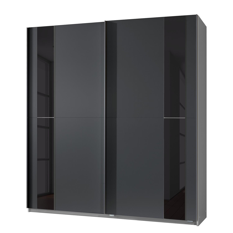 goedkoop Zweefdeurkast Kiel Antracietkleurig zwart glas Wimex