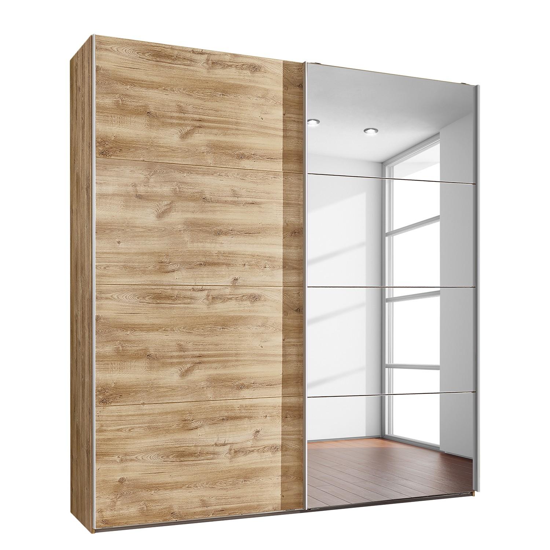 goedkoop Zweefdeurkast London eikenhouten planken look 180cm 2 deurs Wimex