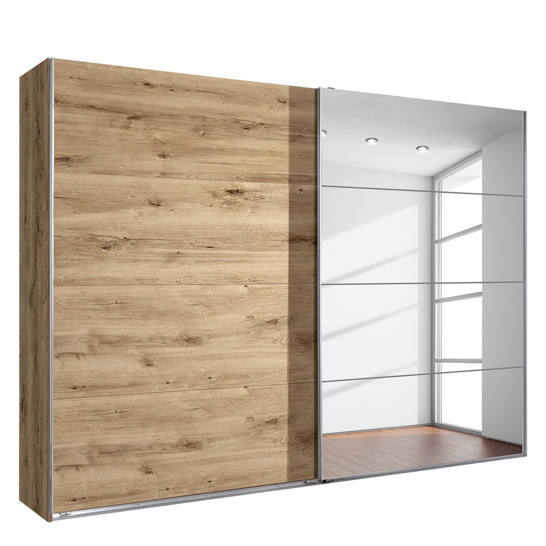 goedkoop Zweefdeurkast London eikenhouten planken look 225cm 2 deurs Wimex