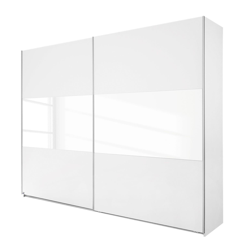 goedkoop Schuifdeurkast Loriga Alpinewit wit glas 175cm 2 deurs Rauch Packs