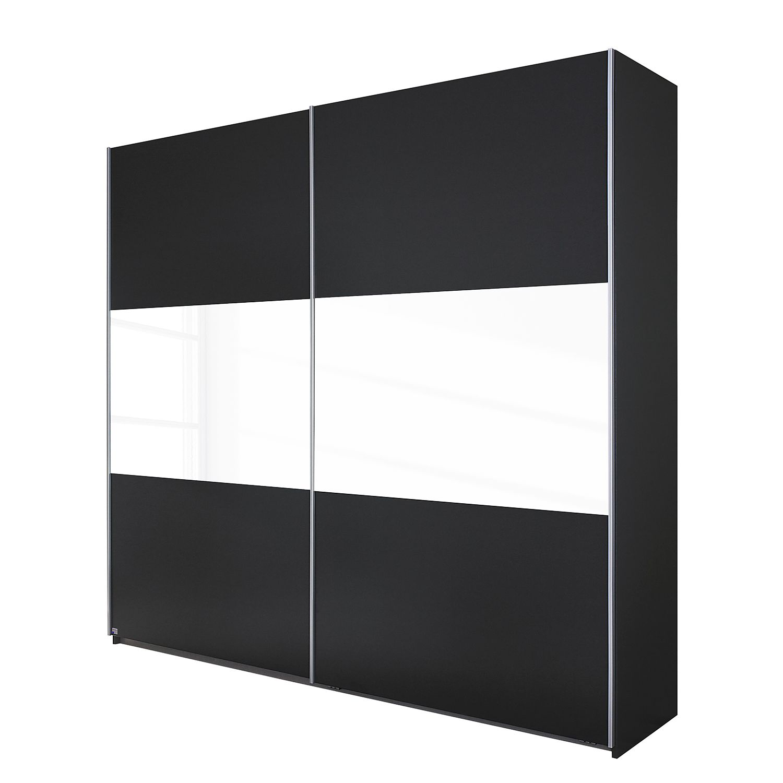 goedkoop Schuifdeurkast Loriga Grijs metallic wit glas 261cm 2 deurs Rauch Packs