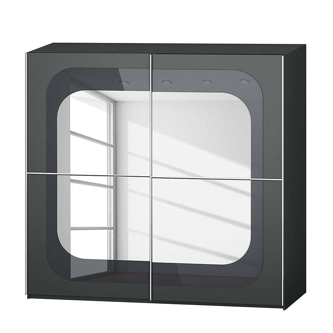 goedkoop Schuifdeurkast Lumos Grafietkleurig basalt 226cm 2 deurs 223cm Rauch Dialog