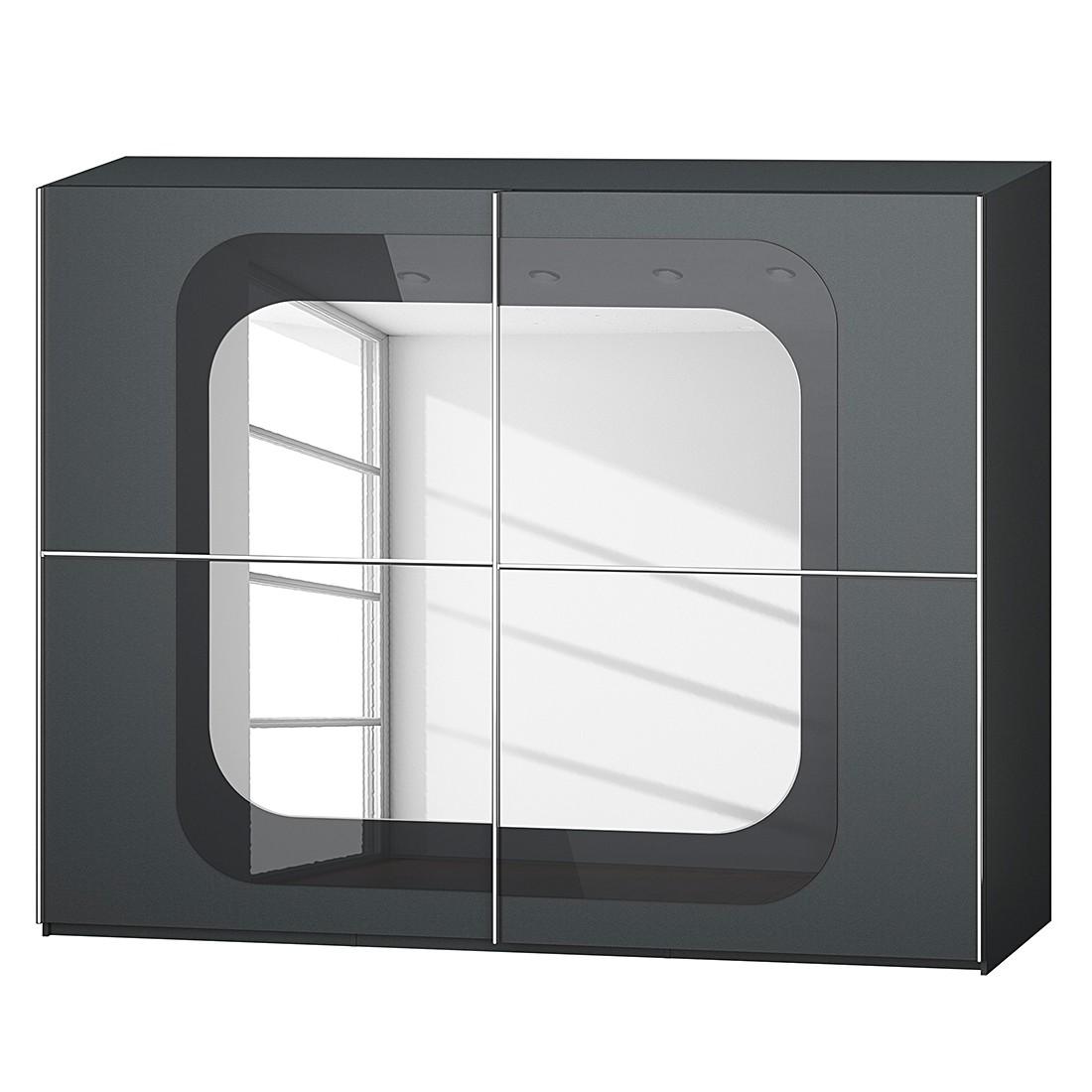 goedkoop Schuifdeurkast Lumos Grafietkleurig basalt 270cm 2 deurs 223cm Rauch Dialog