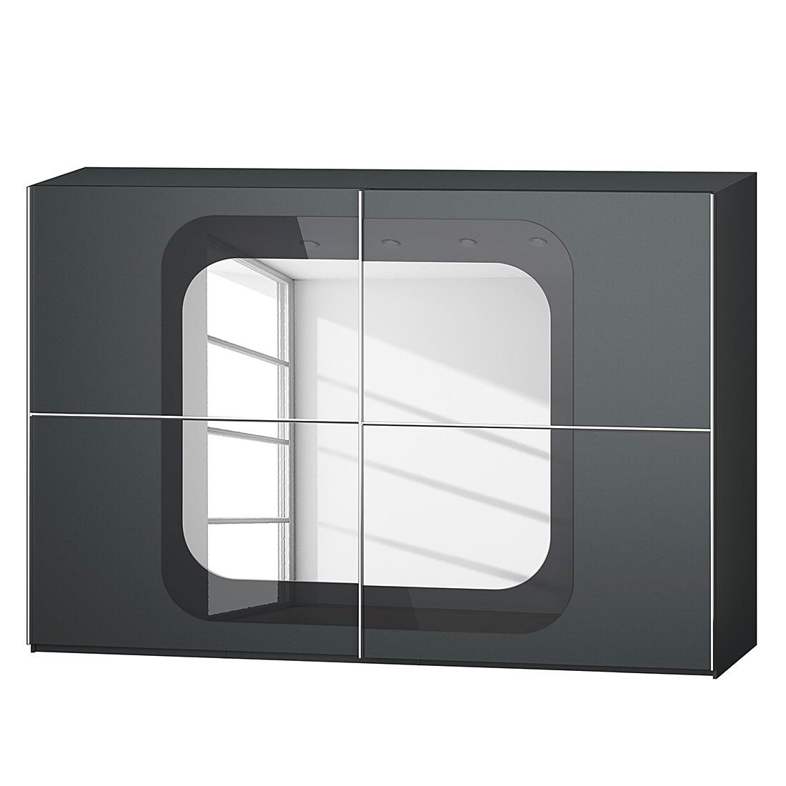 goedkoop Schuifdeurkast Lumos Grafietkleurig basalt 316cm 2 deurs 236cm Rauch Dialog