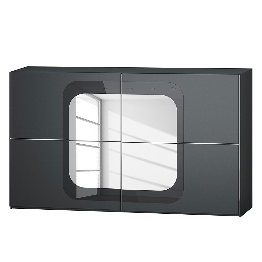 goedkoop Schuifdeurkast Lumos Grafietkleurig basalt 359cm 2 deurs 236cm Rauch Dialog