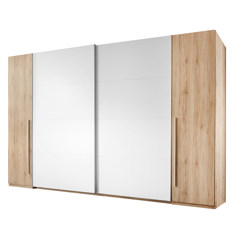 Armoire à portes coulissantes Match 2 - Imitation chêne de San Remo / Blanc, Fredriks