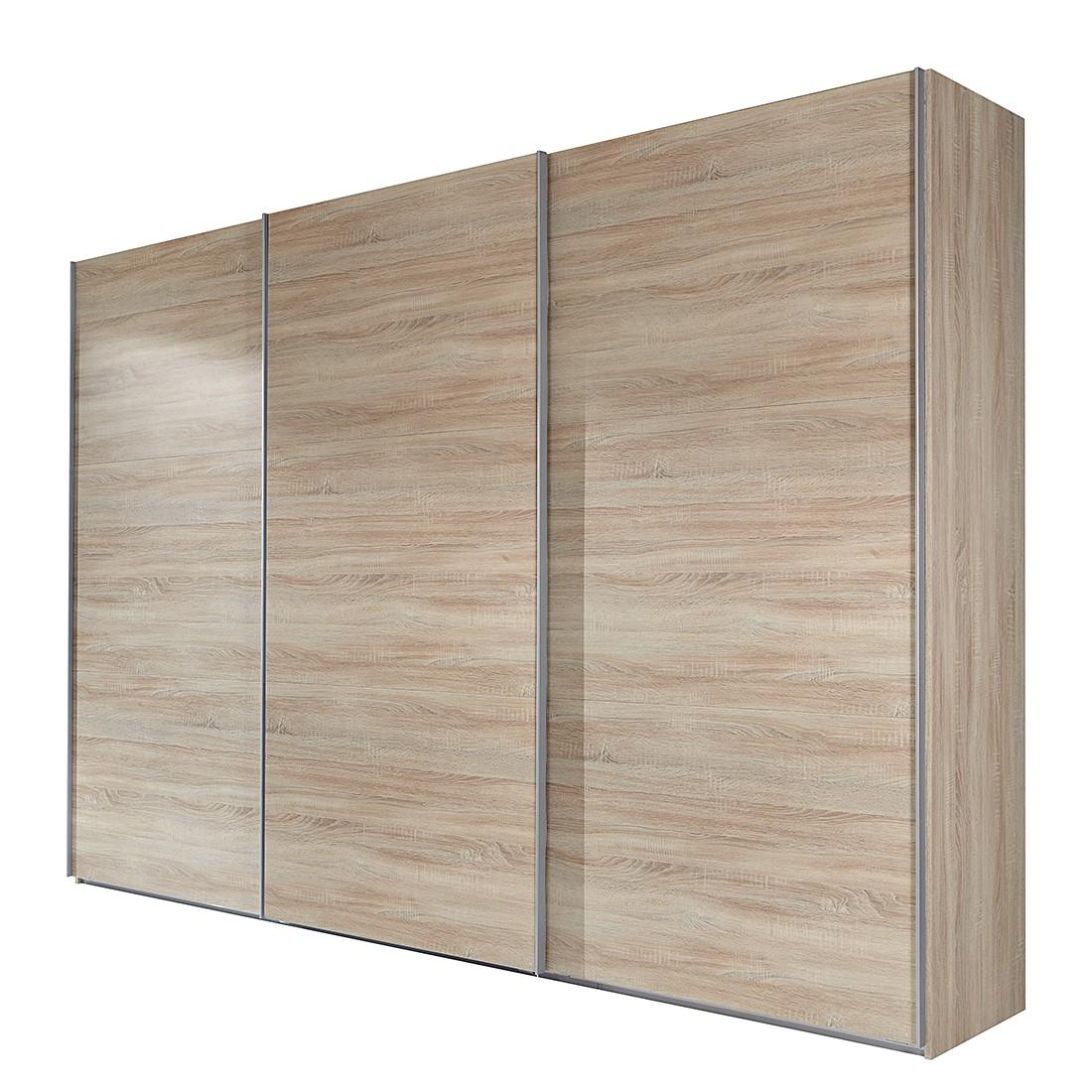 goedkoop Schuifdeurkast Medley grof gezaagde eikenhout look BxH 315x236cm 3 deurs Wimex