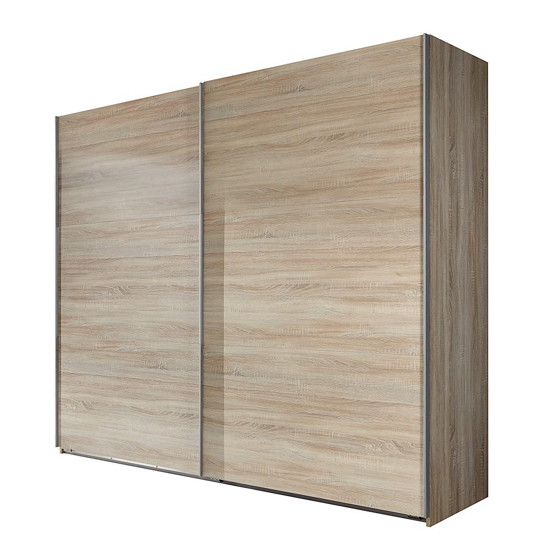 goedkoop Schuifdeurkast Medley grof gezaagde eikenhout look BxH 225x236cm 2 deurs Wimex