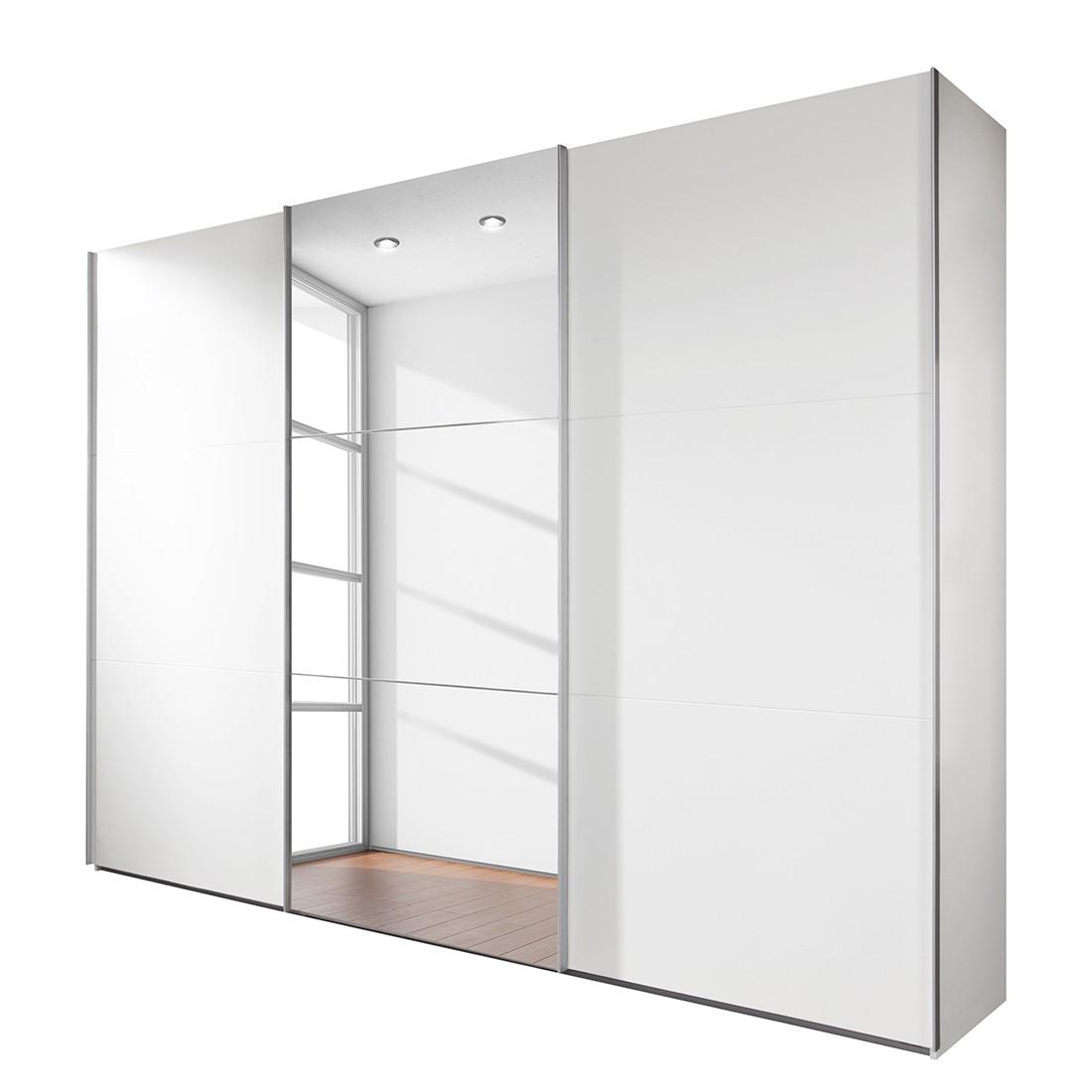 Armadio ad ante scorrevoli MatchUp III (con specchio) - Bianco alpino - Larghezza: x altezza: 225 x 210 cm - 2 ante, Wimex