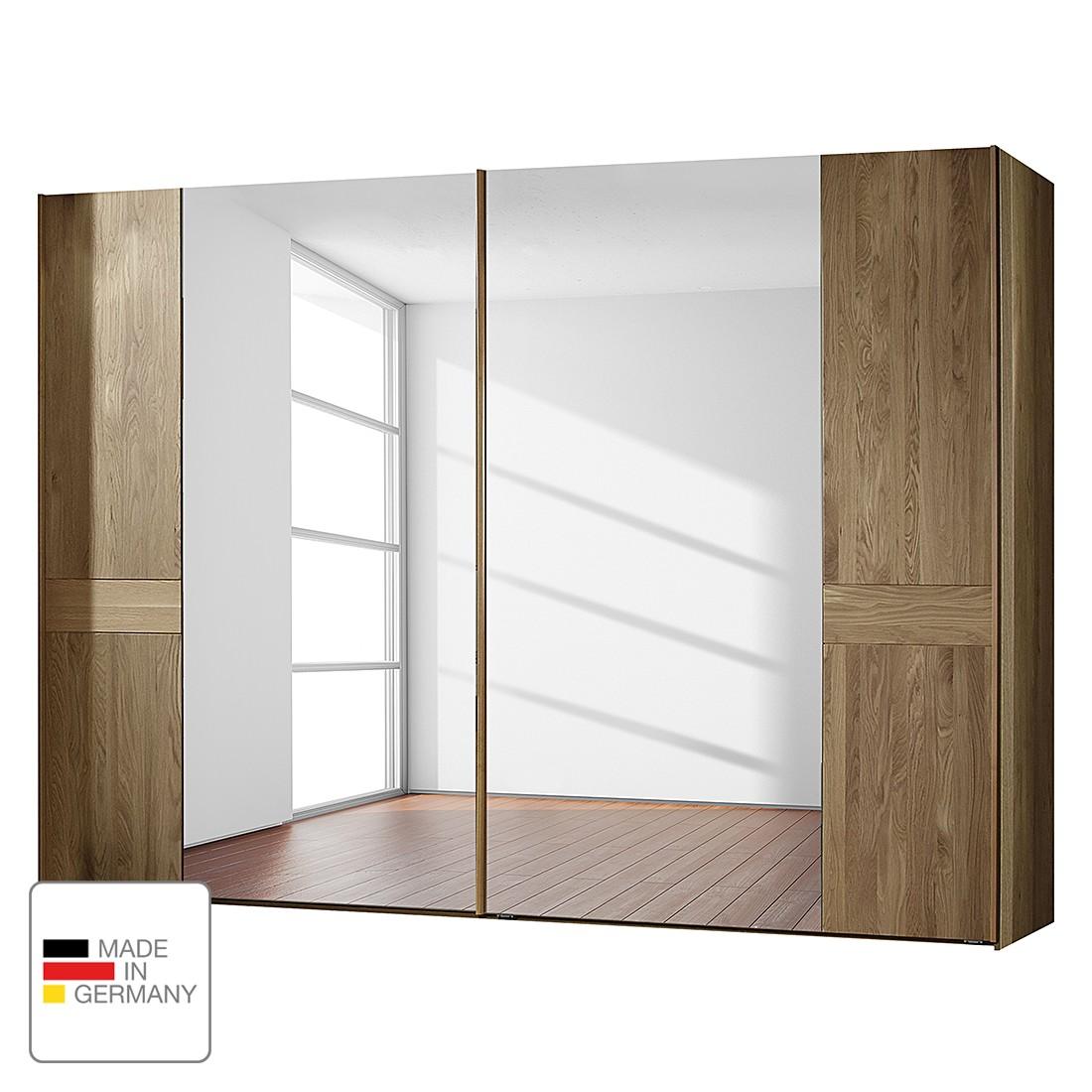goedkoop Schuifdeurkast Münster deels massief eikenhout 300cm 2 deurs Zonder Passe partout lijst Wiemann
