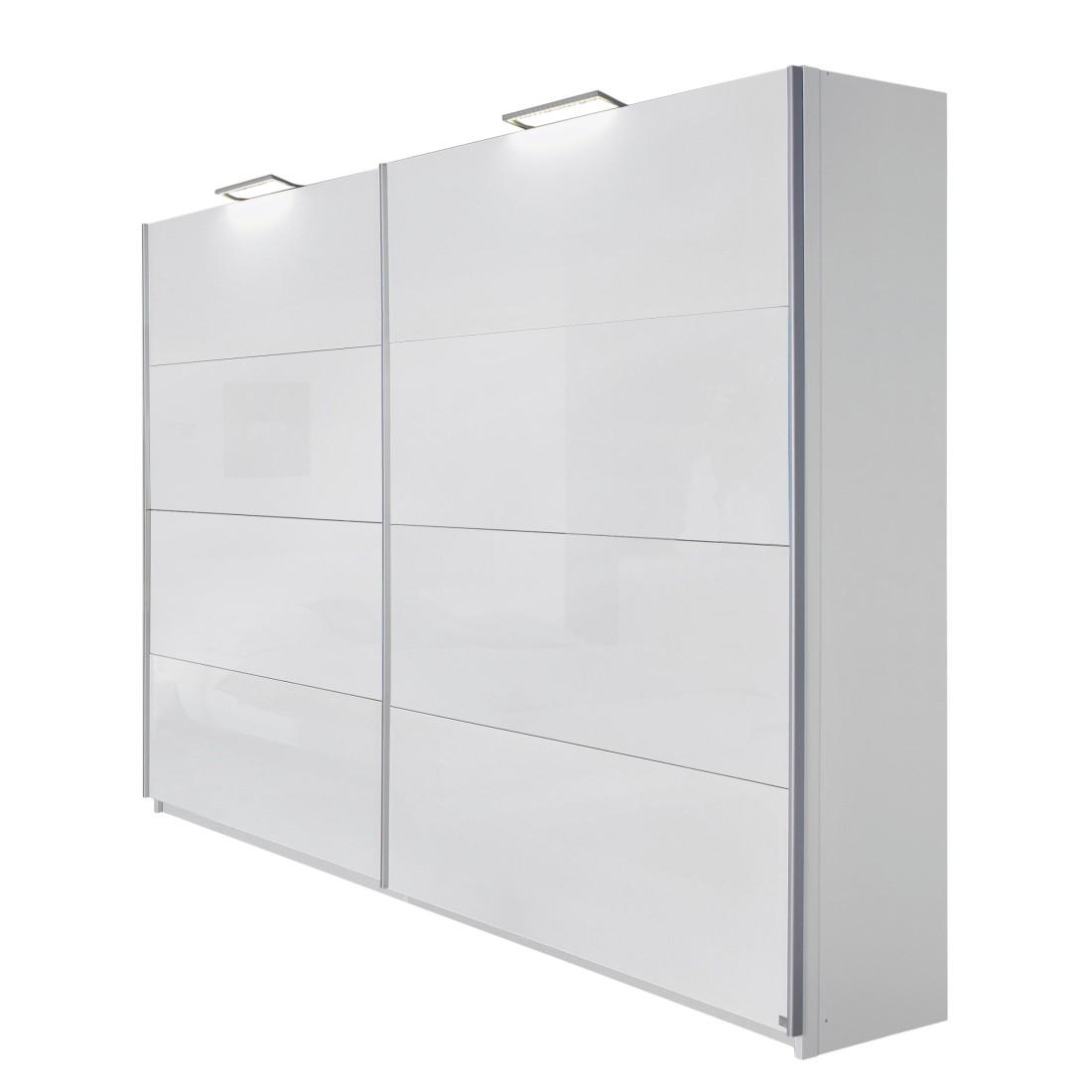 goedkoop Zweefdeurkast Park Avenue alpinewit hoogglans wit 181cm breed Rauch Select