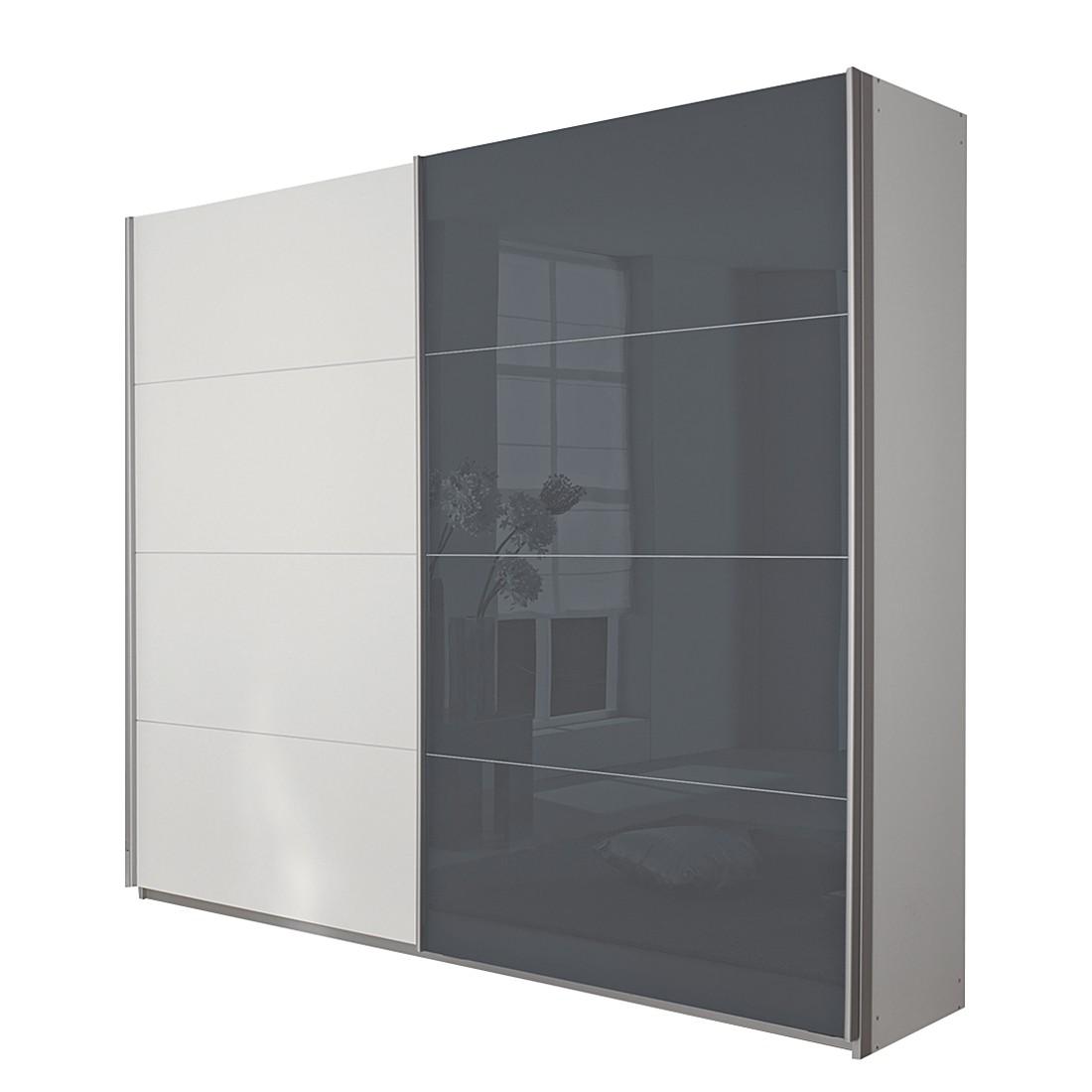 goedkoop Schuifdeurkast Quadra alpinewit grijs 136cm 2 deurs 210cm Rauch Packs