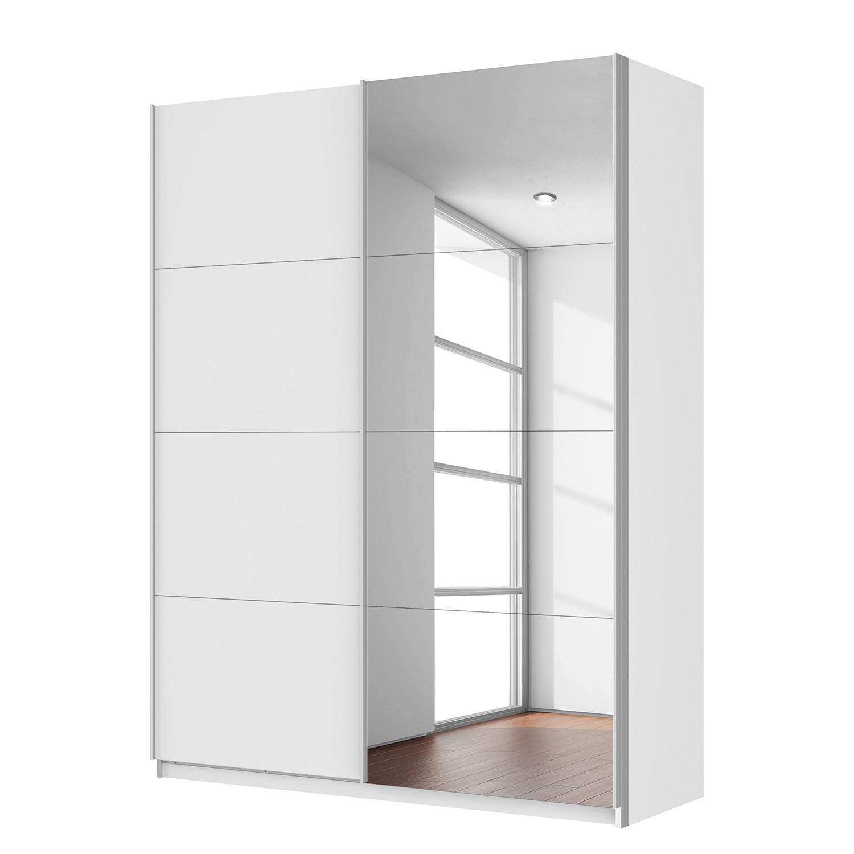 goedkoop Zweefdeurkast Quadra met spiegel alpinewit Kastbreedte 136cm 2 deurs Rauch Packs
