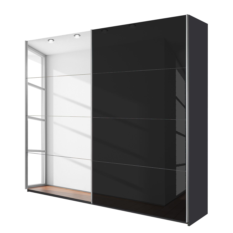goedkoop Schuifdeurkast Quadra spiegel Grau metallic grijs metallic BxH 226x210cm Rauch Packs