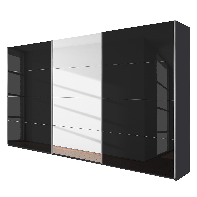 goedkoop Schuifdeurkast Quadra spiegel Grau metallic grijs metallic BxH 315x210cm Rauch Packs