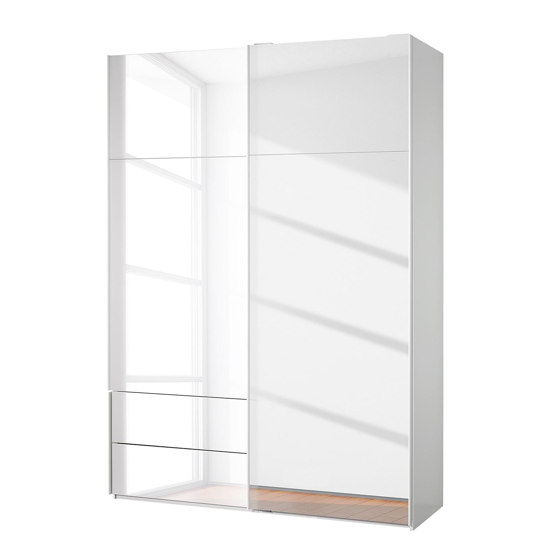 Zweefdeurkast Samaya luxe Wit glas 162 cm 2 deur 223cm spiegeldeuren Studio Copenhagen
