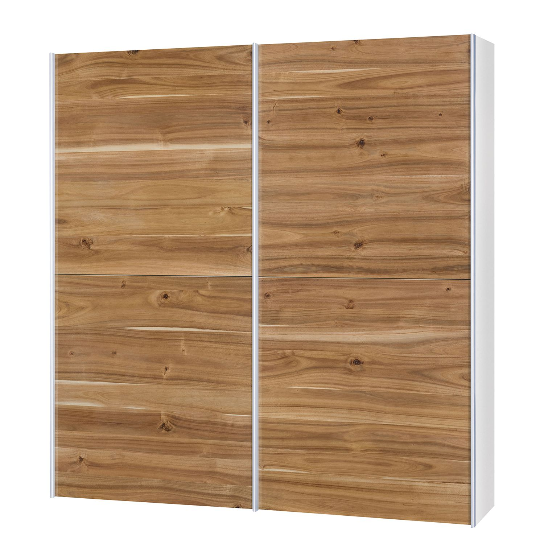 goedkoop Schuifdeurkast Santa Cruz I 2 deurs gefineerd acaciahout gewaxt 202cm Neue Modular