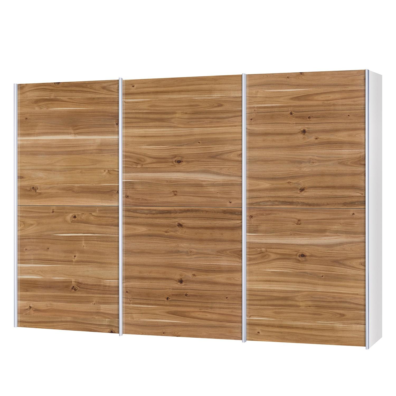 goedkoop Schuifdeurkast Santa Cruz I 3 deurs gefineerd acaciahout gewaxt 302cm Neue Modular