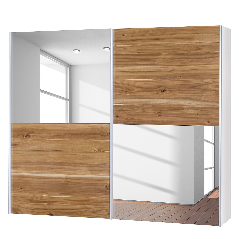 goedkoop Schuifdeurkast Santa Cruz III 2 deurs echt gefineerd acaciahout gewaxt 252cm Neue Modular