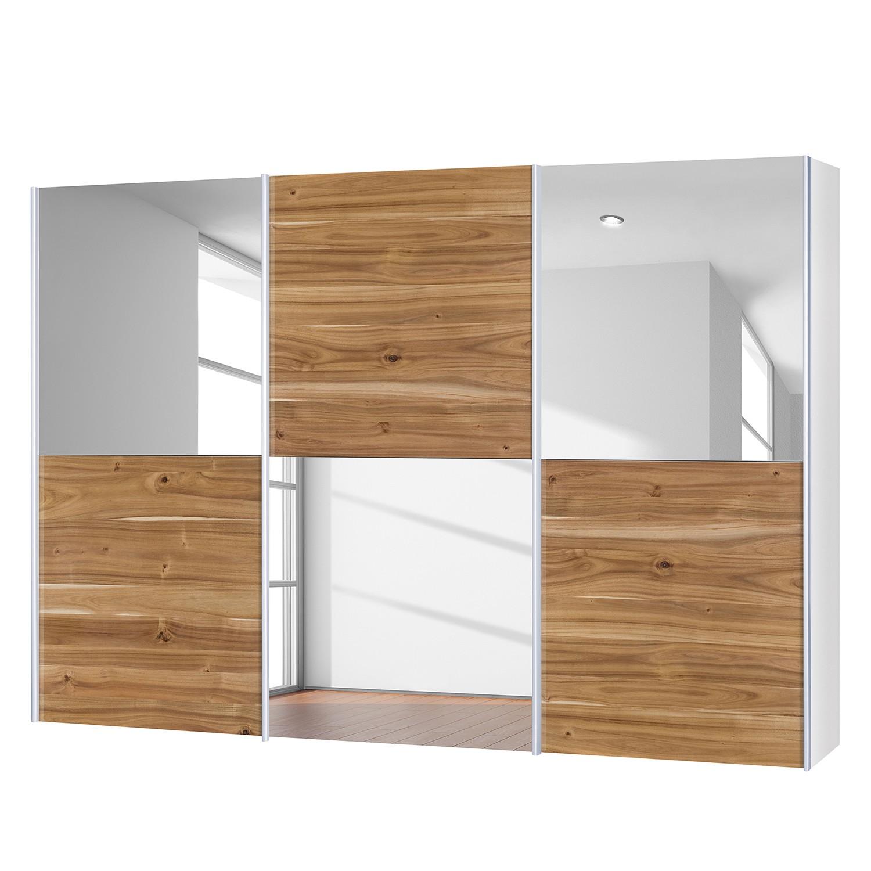 goedkoop Schuifdeurkast Santa Cruz III 3 deurs echt gefineerd acaciahout gewaxt 302cm Neue Modular