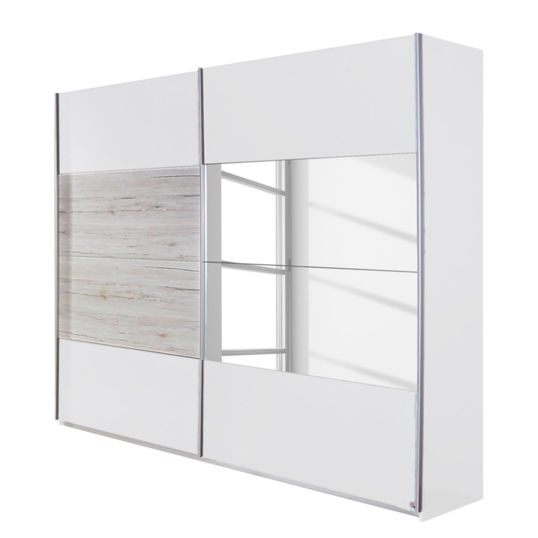 goedkoop Schuifdeurkast Saragossa Alpinewit wit San Remo eikenhouten look 181cm 2 deurs Rauch Packs
