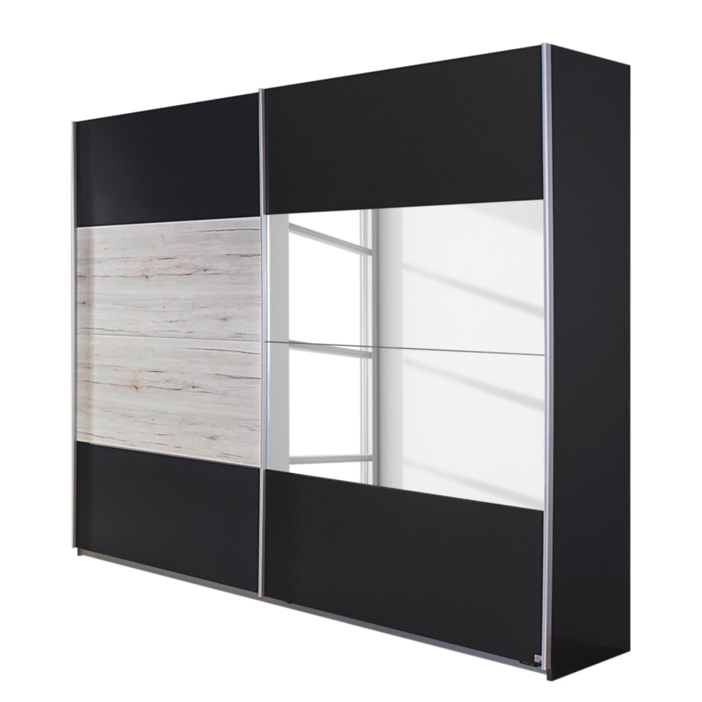 goedkoop Schuifdeurkast Saragossa Metallic grijs wit San Remo eikenhouten look 181cm 2 deurs Rauch Packs