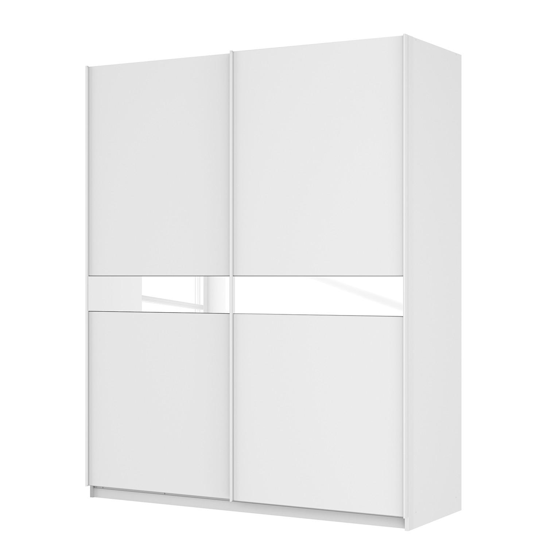 goedkoop Zweefdeurkast Skøp alpinewit wit glas 181cm 181cm 2 deurs 222cm Basic Skop