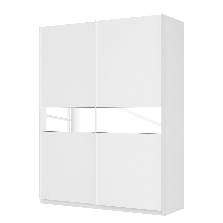 goedkoop Zweefdeurkast Skøp alpinewit wit glas 181cm 181cm 2 deurs 236cm Basic Skop
