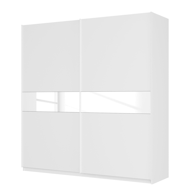 goedkoop Zweefdeurkast Skøp alpinewit wit glas 181cm 225cm 2 deurs 236cm Basic Skop