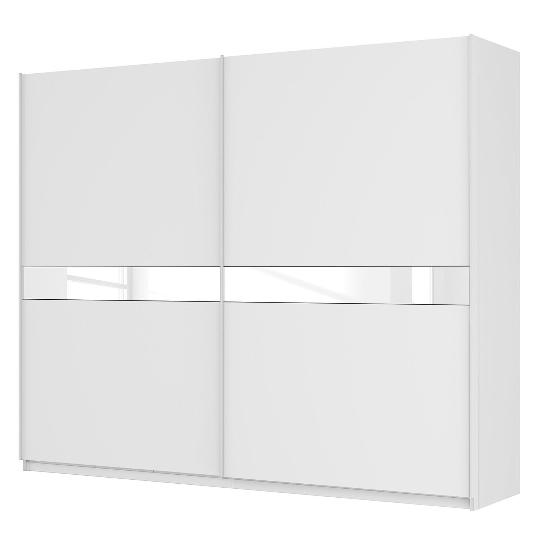 goedkoop Zweefdeurkast Skøp alpinewit wit glas 181cm 270cm 2 deurs 222cm Classic Skop