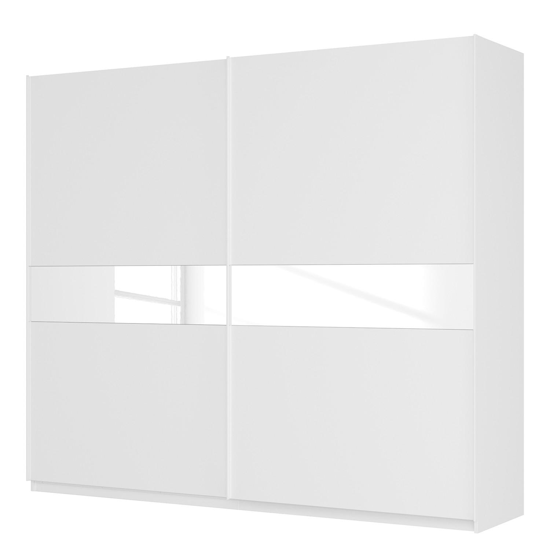 goedkoop Zweefdeurkast Skøp alpinewit wit glas 181cm 270cm 2 deurs 236cm Basic Skop