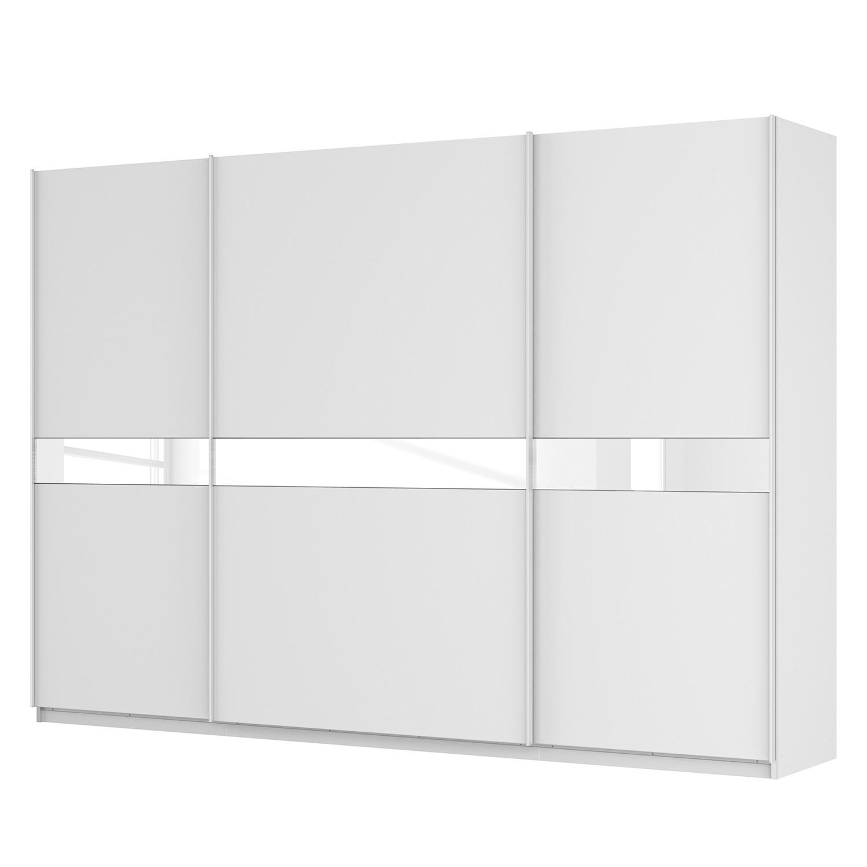 goedkoop Zweefdeurkast Skøp alpinewit wit glas 181cm 315cm 3 deurs 222cm Basic Skop