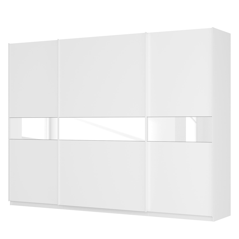 goedkoop Zweefdeurkast Skøp alpinewit wit glas 181cm 315cm 3 deurs 236cm Basic Skop