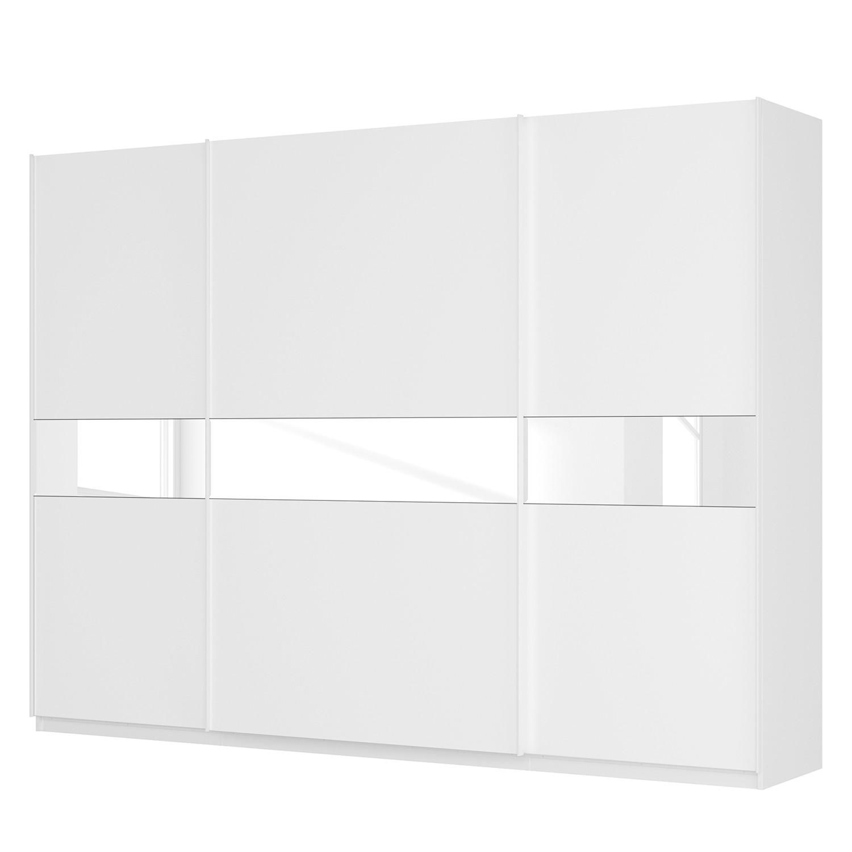 goedkoop Zweefdeurkast Skøp alpinewit wit glas 181cm 315cm 3 deurs 236cm Premium Skop