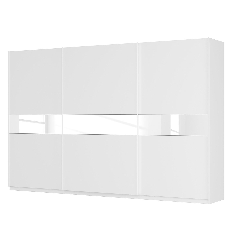 goedkoop Zweefdeurkast Skøp alpinewit wit glas 181cm 360cm 3 deurs 236cm Comfort Skop