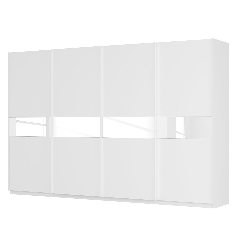 goedkoop Zweefdeurkast Skøp alpinewit wit glas 181cm 360cm 4 deurs 236cm Premium Skop