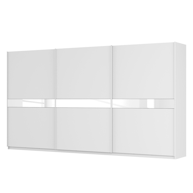 goedkoop Zweefdeurkast Skøp alpinewit wit glas 181cm 405cm 3 deurs 222cm Premium Skop
