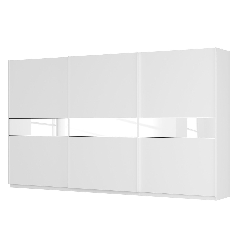 goedkoop Zweefdeurkast Skøp alpinewit wit glas 181cm 405cm 3 deurs 236cm Basic Skop