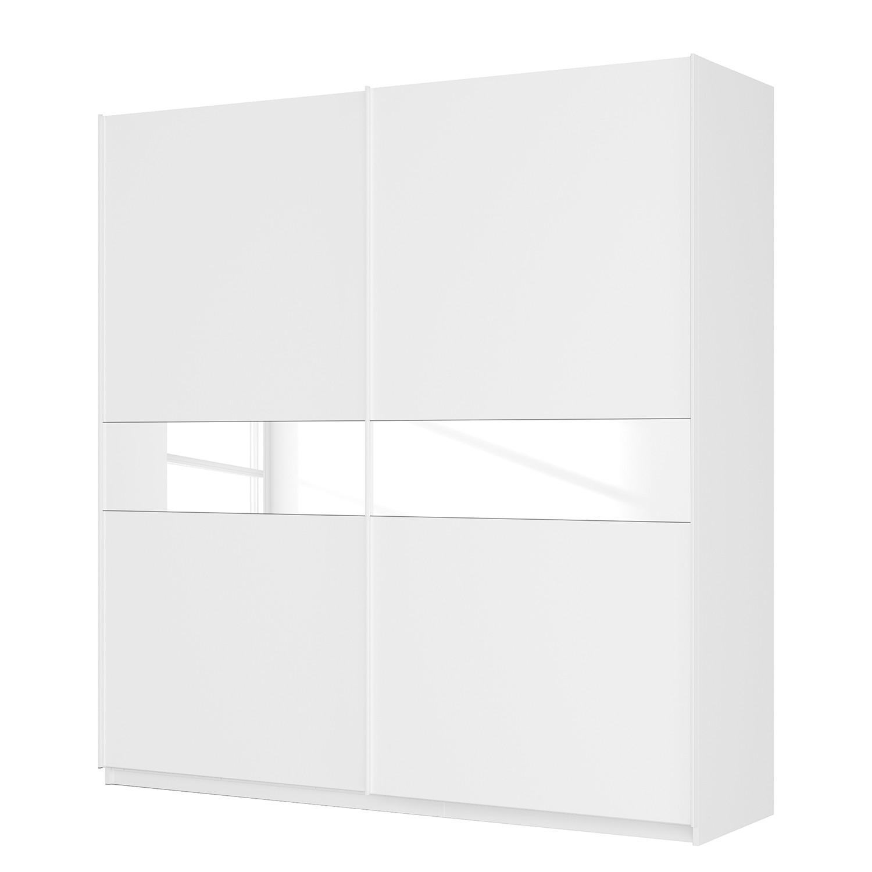 goedkoop Zweefdeurkast Skøp alpinewit wit mat glas 225cm 2 deurs 236cm Basic Skop