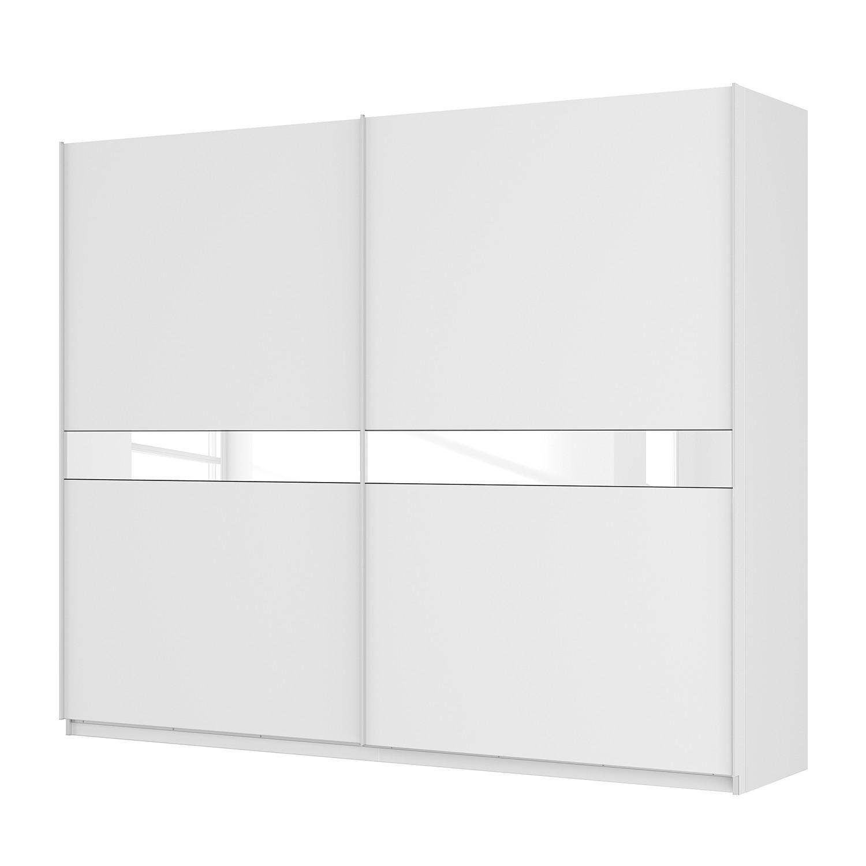 goedkoop Zweefdeurkast Skøp alpinewit wit mat glas 270cm 2 deurs 222cm Comfort Skop