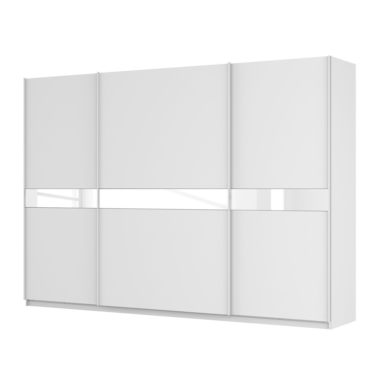 goedkoop Zweefdeurkast Skøp alpinewit wit mat glas 315cm 3 deurs 222cm Comfort Skop