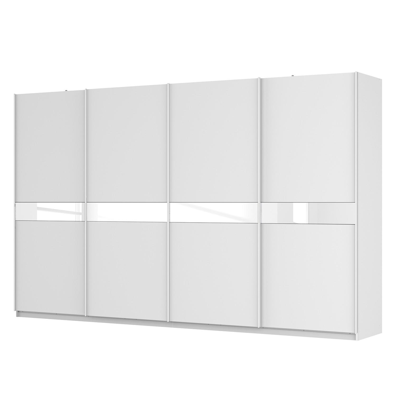 goedkoop Zweefdeurkast Skøp alpinewit wit mat glas 360cm 4 deurs 222cm Basic Skop