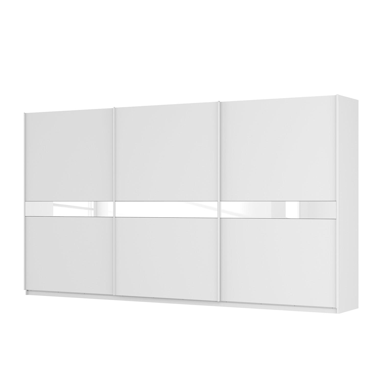 goedkoop Zweefdeurkast Skøp alpinewit wit mat glas 405cm 3 deurs 222cm Premium Skop