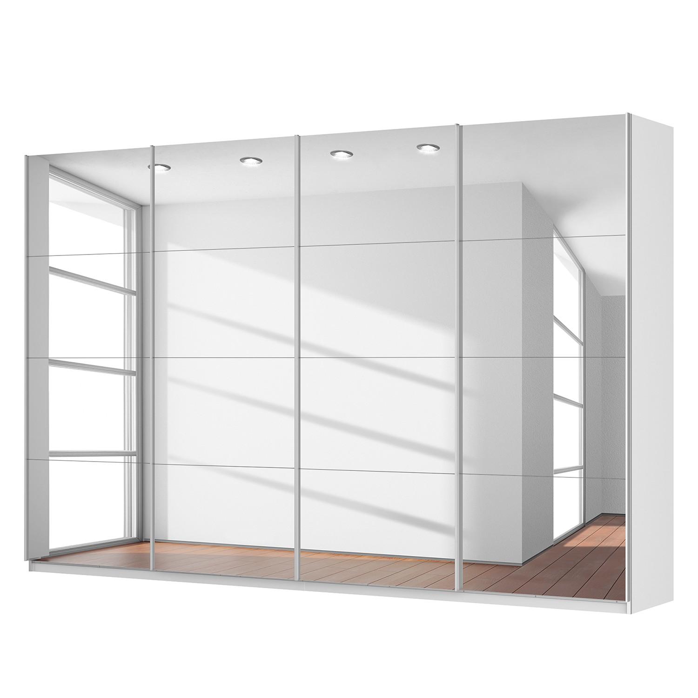 Schwebetuerenschrank SKOEP | Schlafzimmer > Kleiderschränke > Schwebetürenschränke | Weiss | Glas - Holzwerkstoff | SKOEP