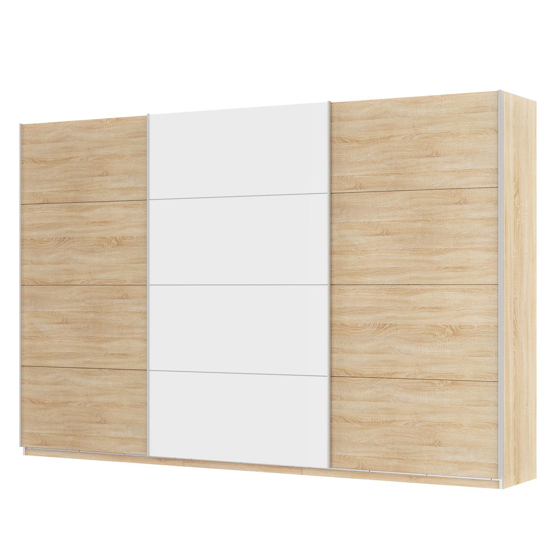 goedkoop Zweefdeurkast Skøp Sonoma eikenhouten look alpinewit 360cm 3 deurs 236cm Classic Skop