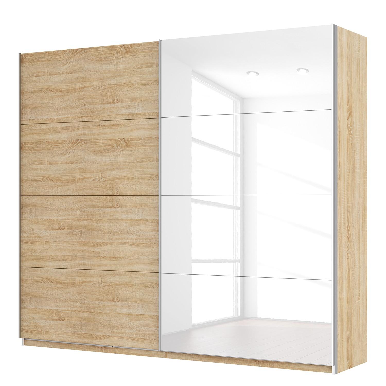 goedkoop Zweefdeurkast Skøp Sonoma eikenhouten look hoogglans wit 270cm 2 deurs 236cm Comfort Skop
