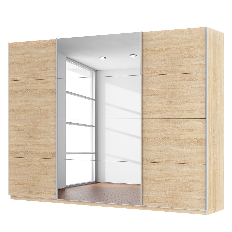 goedkoop Zweefdeurkast Skøp Sonoma eikenhouten look spiegel 315cm 3 deurs 236cm Basic Skop
